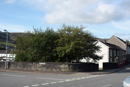The site of Nebo Ystrad photographed in September 2009.